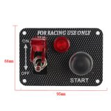 12Vレースカーの点火スイッチのパネルエンジンの開始の押しボタン赤いLEDのトグル