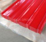 Оцинкованные с полимерным покрытием крыши листов гофрированного картона PPGI металлическая кровля