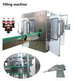 가득 차있는 자동 탄산 가스는 음료 병 병에 넣는 충전물 기계 플랜트를 포함한다
