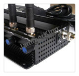 2.4G WiFi +リモート・コントロール+Gpsl1+Lojackのシグナルの妨害機; 静止した8つの杆状球の電話妨害機かブロッカー、1つの妨害機の細胞WiFiGPSLojack 433 315MHzすべて