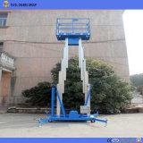 Beweglicher elektrischer doppelter Mast-hydraulischer teleskopischer vertikaler Mann-Aluminiumaufzug