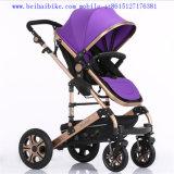 Qualitäts-Falten-europäischer Baby-LuxuxSpaziergänger mit Auto-Sitz