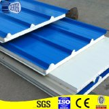 Couleur blanc galvanisé PU Sandwich panneau de toit