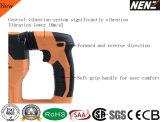 """Nenz 1-3/16"""" Martillo perforador inalámbrico multifunción con 2 baterías de litio (NZ80)"""