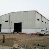 Almacén ligero de la estructura de acero con la grúa de 10 toneladas