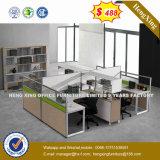 Prix bon marché MFC en bois couleur acajou Office Desk (HX-8N3004)