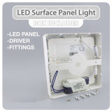 Ultra-Compact 6W, 12W, 18W, 24W de superficie de la luz de panel LED