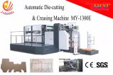 Máquina que corta con tintas y que arruga semiautomática con el sistema de registro doble