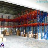 A cremalheira do armazém do fornecedor de China suportou o mezanino para o armazenamento