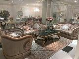 Sb53 de madera maciza estilo real clásico Sofá de tela