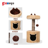 Haustier-Produkt-Grün-kleiner Katze Scratcher Plüsch-Katze-Baum