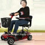 年配者のための情報処理機能をもったシステムが付いている安い折る移動性の電気スクーター