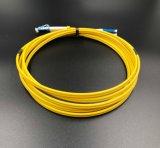 Cavo di zona di fibra ottica, duplex di LC-LC, incrocio di polarità per la latta e rete
