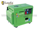 5kVA Trifásico portátil tipo silencioso Generador Diesel ampliamente el uso