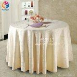Tissu blanc de table ronde de mariage d'usager de coton de banquet d'hôtel pour l'événement