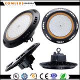 Hohe Bucht >125lm/W UFO-100W LED nehmen den wahlweise freigestellten Diffuser (Zerstäuber) des Entwurfs-PC/Alum ab
