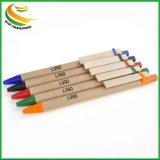 La cancelleria poco costosa ricicla la penna a sfera di plastica per promozionale