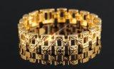 工場人のための卸し売りクラシック12mmの人18Kの金のブレスレット及び腕輪の金のチェーン・リンクのブレスレット