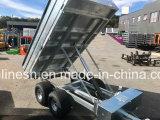 Pneu largo 4X4 ponta hidráulica elétrica em tandem reboque galvanizado de 2000kgs ou de 2-Ton ATV/reboque do quadrilátero/reboque da exploração agrícola/reboque da descarga/Ce de serviço público do reboque/reboque da carga