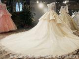 Neues trägerloses Reich-Schwarzesapplique-Schleife-Serien-Hochzeits-Kleid Yao0062