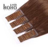 PRO прямой 20 дюймов коричневый невидимый ленту в человеческий волос