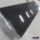 カウンタートップのための人工的な石造りの純粋で黒い固体表面シート