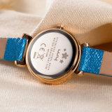 Reloj de la mujer del cuarzo de la correa de cuero de la manera (Wy-094C)