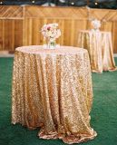 結婚披露宴表の装飾のスパンコールのテーブルクロスのためのスパンコールの魅力的なテーブルクロスかファブリック