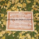 Le panneau de lettre de feutre table des messages de 10 pouces avec du plastique marque avec des lettres le sac collectif de coton