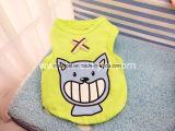 Vestiti dell'animale domestico della maglietta di estate del cane del cotone con le stampe belle del fumetto