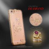 Caja de lujo del teléfono de la sublimación de Bling TPU 2.o del precio al por mayor para el iPhone 6/6plus 7/7plus