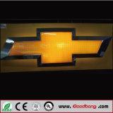 3Dクロム銀カラー車のショールームLEDの照明Thermoforming自動車のロゴの印