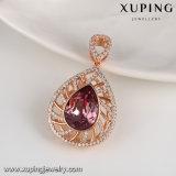 33006 Xuping Form-Schmucksache-Rosa-Vergoldung-Halskette, grosse Kristalle Swarovski vom fantastischen Anhänger für Frauen