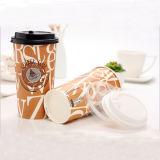Usine de recyclage de vente chaude 9oz à paroi simple tasse de café en papier de verre