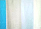 Tejido de lino, ropa de cama y ropa de algodón y viscosa de prenda: una camiseta, pantalones, traje, y textil hogar, como el sofá, lino
