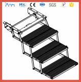 Ce алюминиевый складной 3 шаг со стороны с электроприводом лестницы для автомобиля с светодиодный индикатор