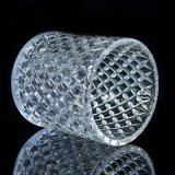 De Houders van de Kaars van het Glas van het kristal met Ontwerp Dimon