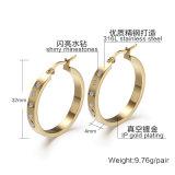Mode Bijoux en acier inoxydable de cadeaux Silver Nouvelles filles Diamond Earring