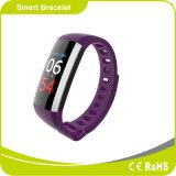Ecrã a cores Bracelete Inteligente Bluetooth com medição de pressão arterial