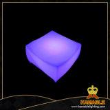PE LED impermeable de plástico Material muebles mesa de vidrio (G002)