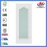 Porte en verre en bois prix blancs d'amorce des meilleurs (JHK-G04)