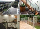 Ajustement de 304 d'acier inoxydable d'escalier accessoires de balustrade