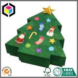 Caixa de presente do papel do cartão do Feliz Natal da impressão de cor cheia