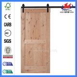 Porte de grange en bois intérieure en stratifié de diviseur de pièce de matériel