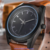 Relojes de encargo de la manera del reloj del cuarzo del hombre de la insignia para los hombres (WY-17014D)