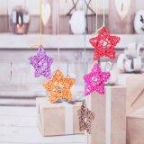 10 El Color precioso Rattanball estrellas Boda Fiesta de cumpleaños decoración bricolaje