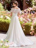 Кружевной Corset устраивающих Gowns короткие рукава Boho Бич свадебные платья Z2028
