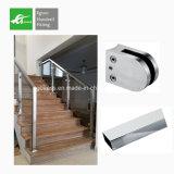 Suelo que monta la barandilla movible inoxidable de la escalera del tubo de acero