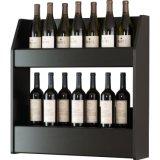 Стена твердой древесины сбор винограда установила шкаф вина индикации бутылки хранения