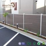 Anti-UV WPC valla de jardín compuesto de madera con aluminio Post